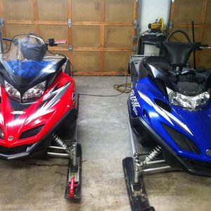 06 yamaha viper (seats in repair) and 02 viper with 162 track and tripple pipes (windshield being replaced)