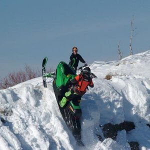 Some of the SledCrew.com guys climbing the hills